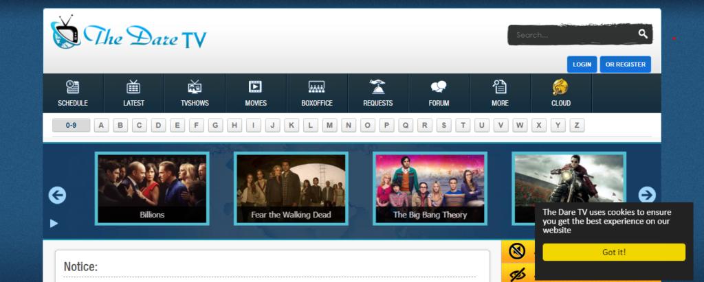 the dare tv site