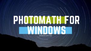photomath for PC windows computer